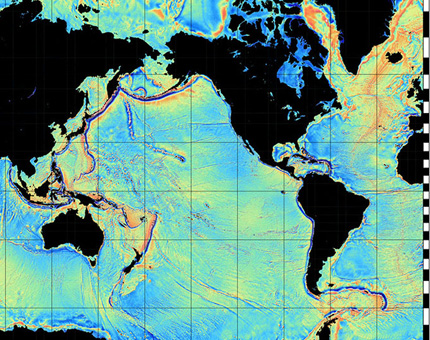 Mapping the Seafloor with Gravity Models