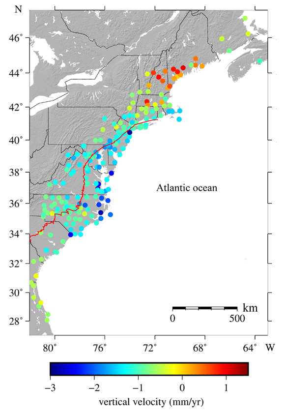 Atlantic Coastal Plains Map