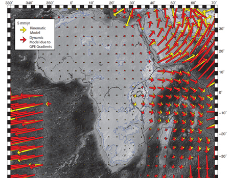Rifting in Eastern Africa: Geodetic Data Deciphers Spreading Forces