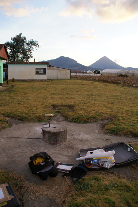 Site of GPS station, CHPO in Guatemala Photograph courtesy of Neal Lord.