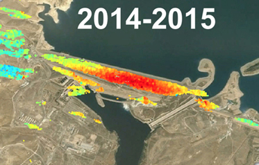 Satellite Imagery Tracks Subsidence and Risk at Mosul Dam
