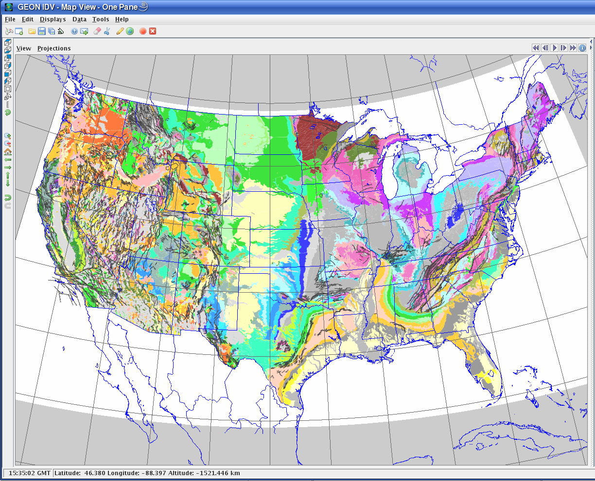 UNAVCO IDV: Geology maps and vertical cross sections