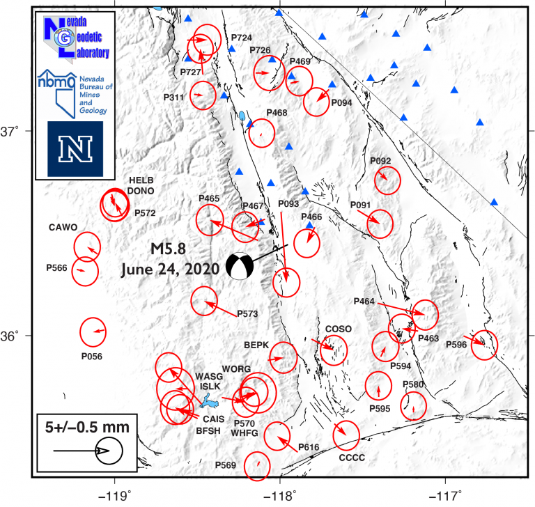 Preliminary coseismic displacements from NOTA GNSS stations