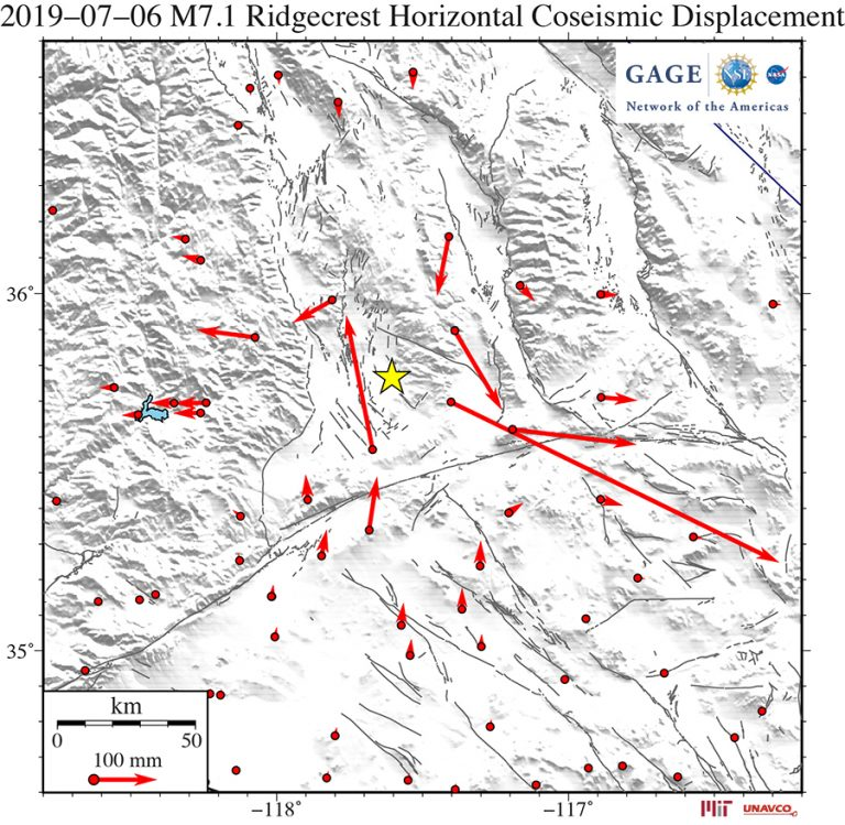 Coseismic horizontal offsets of the 6 July 2019 M7.1 event