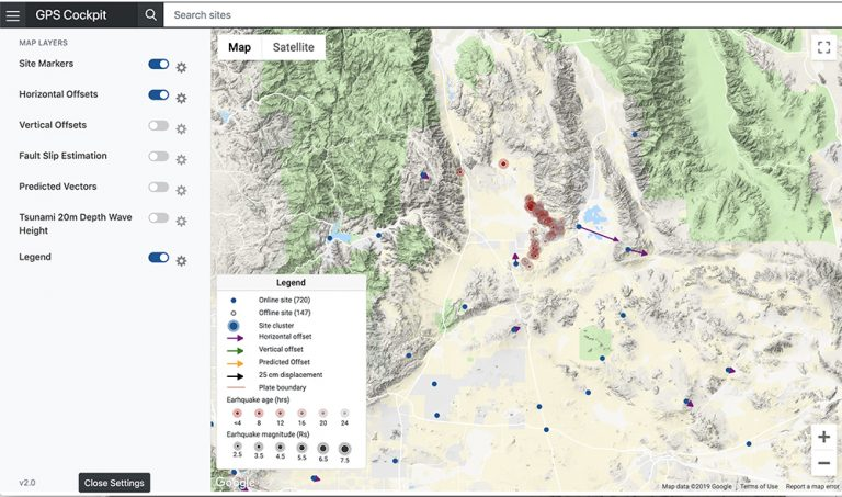 Real-time GNSS seismic monitoring output