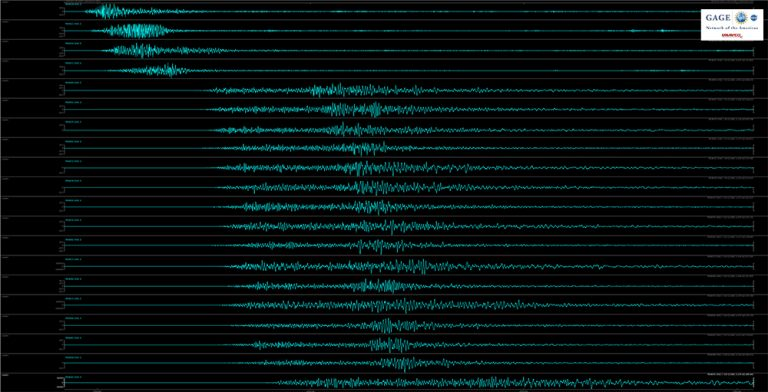 Seismic traces of 6 July 2019 event