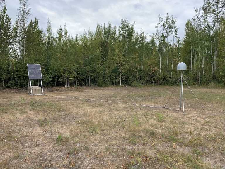 gps station in clearing