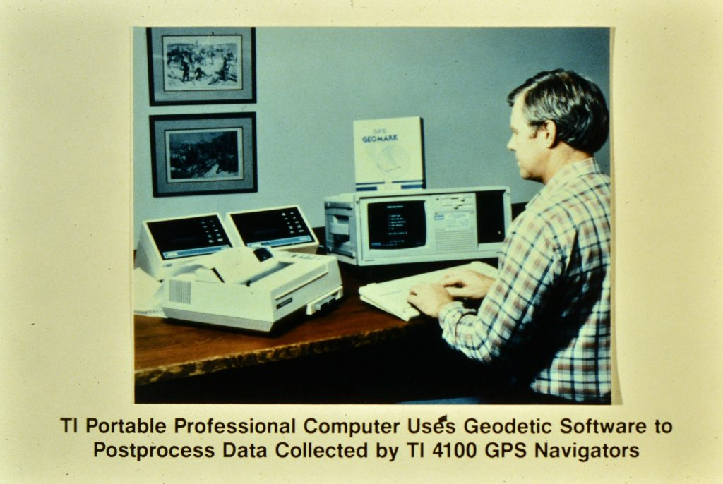 labeled photograph of person using a computer