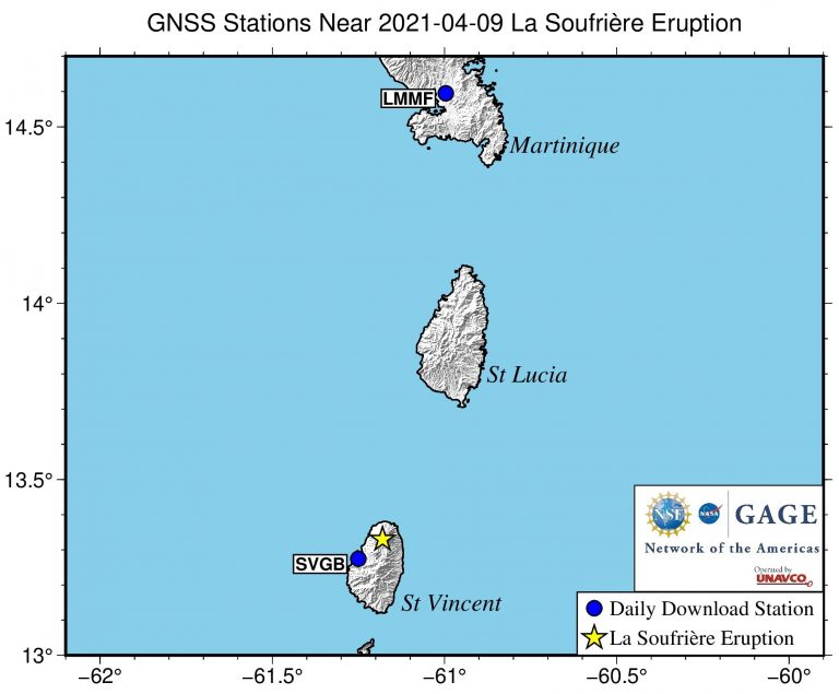 map showing nearby stations
