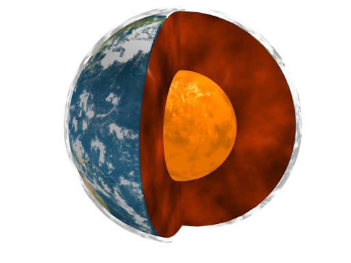 illustration of Earth's interior
