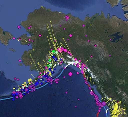 map of Alaska and plate vectors