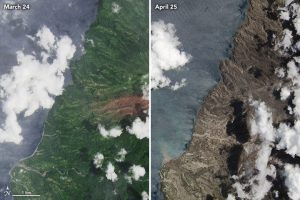 before-and-after satellite images