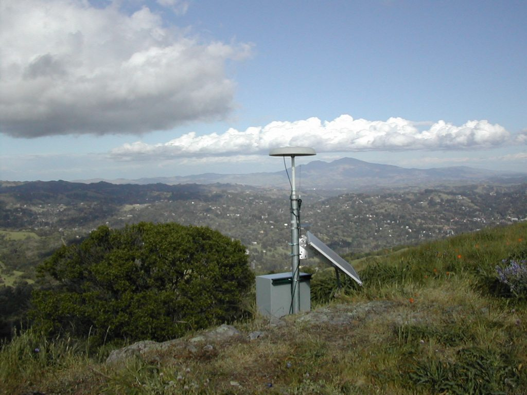 gps station on a hill