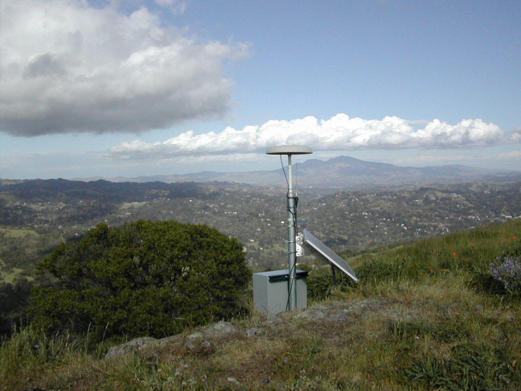 gps station on a hill