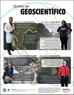 """""""Quiero Ser Geoscientífico"""" Flier"""