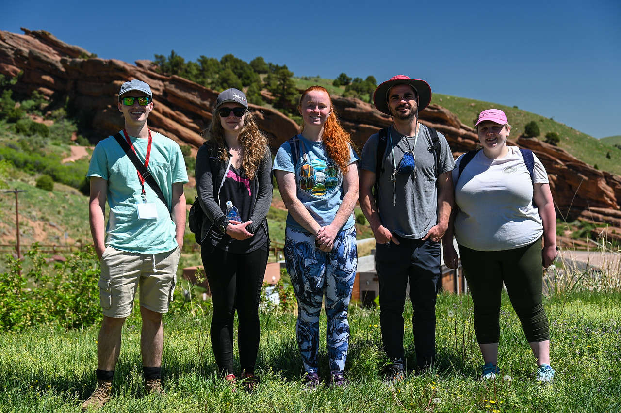 Five USIP interns standing for a picture at red rock park