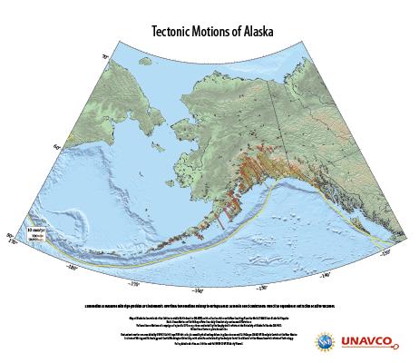 UNAVCO Tectonic Motions of Alaska Poster