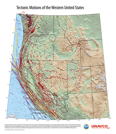 Tectonic Motions of Western US Poster
