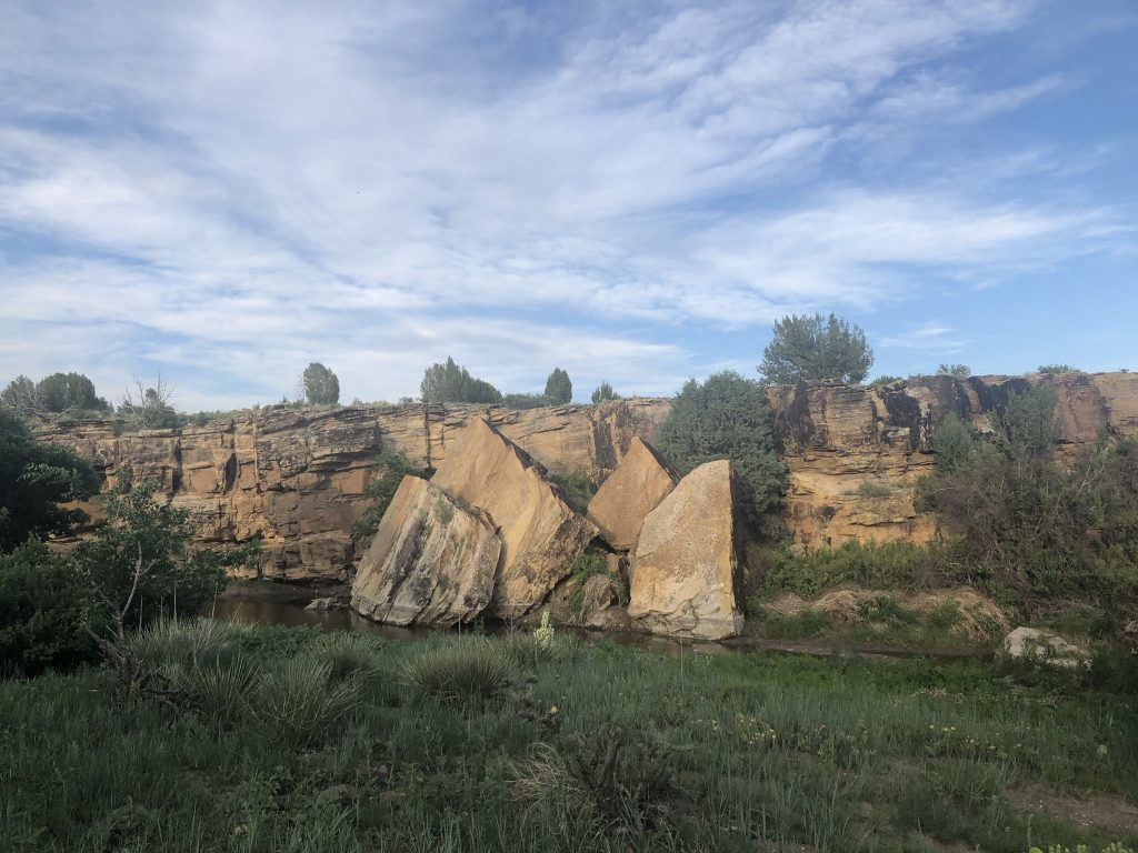 Large outcrop from Front Range in CO.