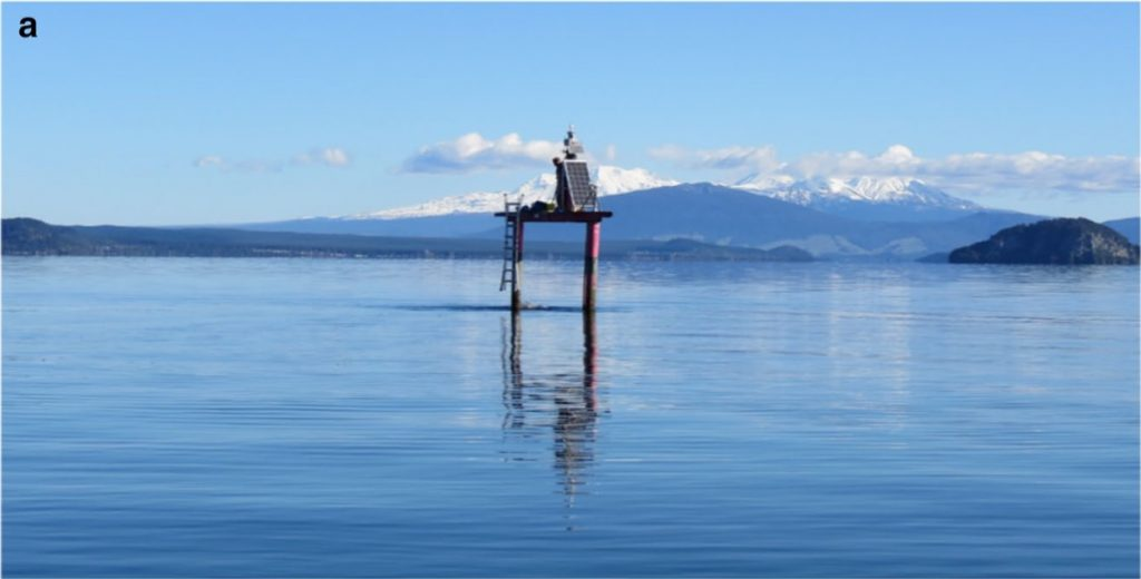 GNSS Station in the middle of Lake Taupō