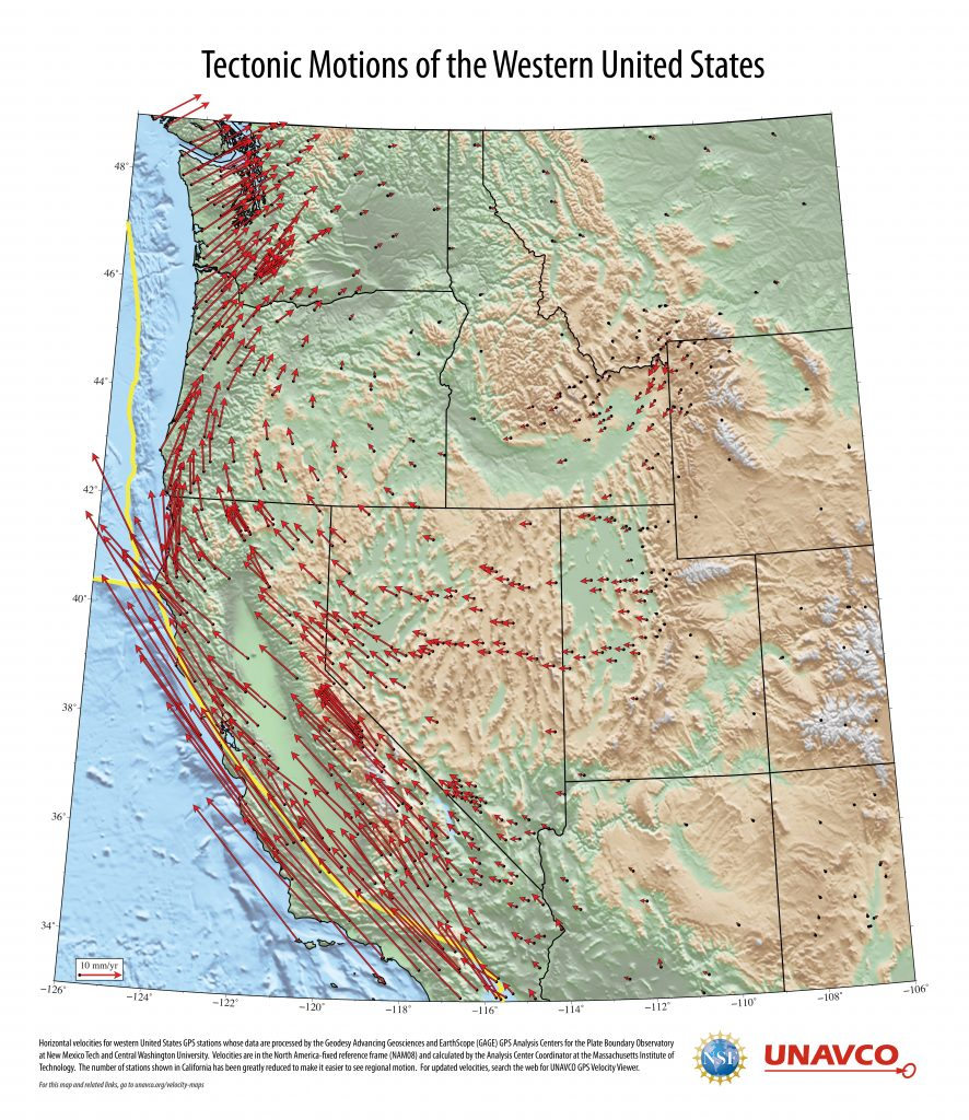 western us map poster front side