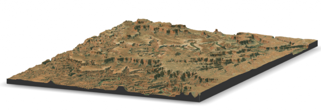 Canyonlands LiDAR and satellite rendering