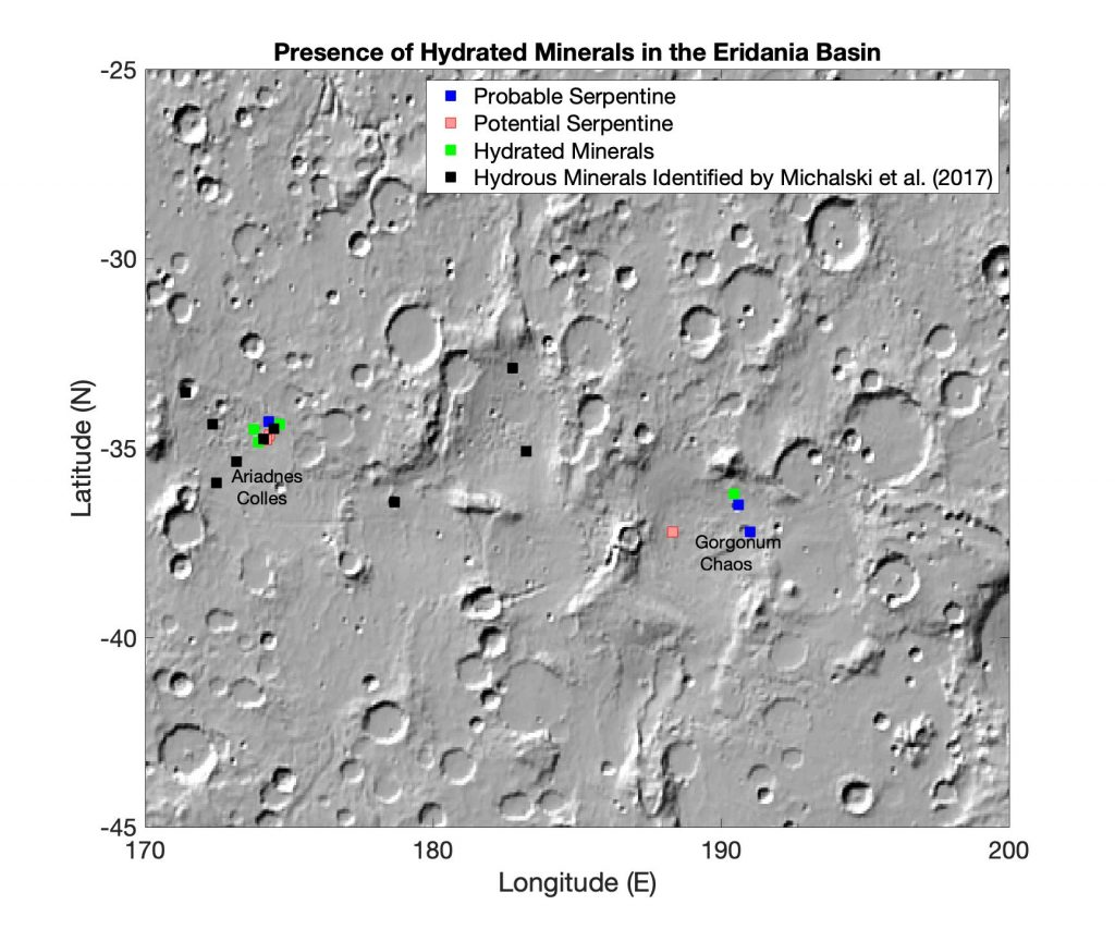 screenshot of Eridania Basin on Mars