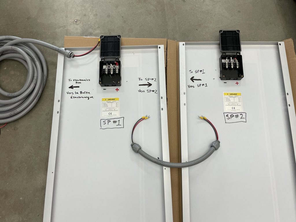 labeled components for permanent station