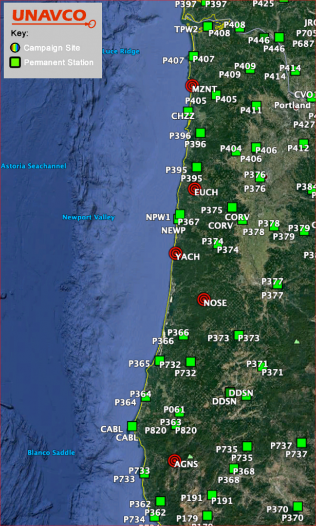 map of new stations in Oregon